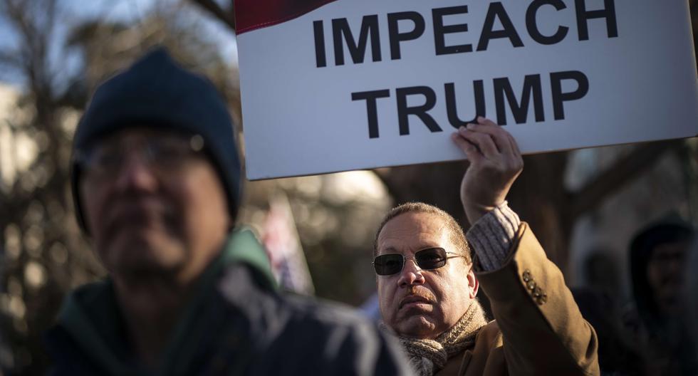 Donald Trump podría ser el tercer presidente en ser sometido a un juicio político o 'impeachment'. [AFP]