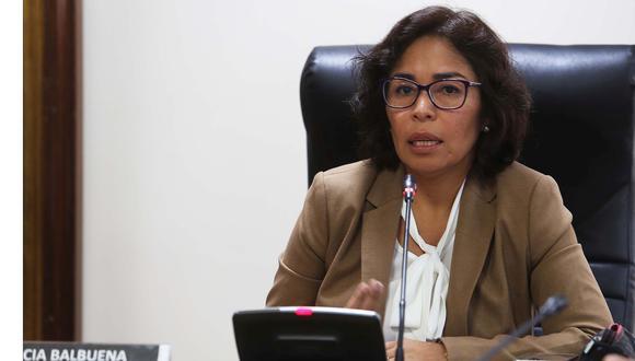 La ministra de Cultura, Patricia Balbuena, se mostró a favor de realizar un balance y revisar la ley de consulta previa para los pueblos indígenas. (Foto: Difusión)