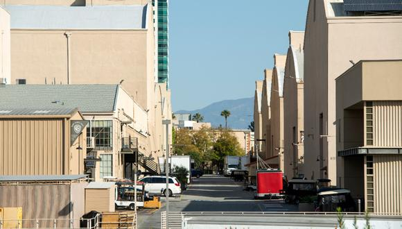Así se veían los estudios de Hollywood durante la cuarentena. California es el estado con más casos de COVID-19: más de 580,000, con 10,000 muertes. (Foto: AFP)
