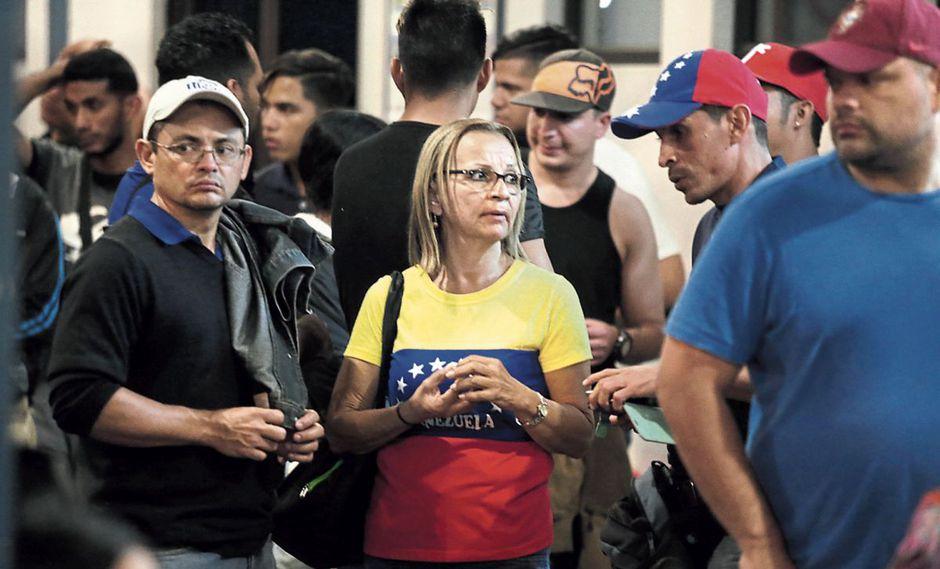 Años de ingreso. En el 2018, ingresó el 76.8% de los venezolanos en el país. En el 2017, fue el 19.6% y en el 2016 el 2.7%. (Foto: Alonso Chero)