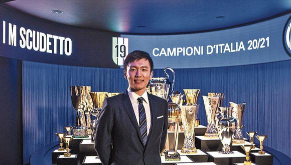 Zhang. El presidente del Inter de Milán es economista y fan de Lionel Messi, jugador al que sueña con fichar.  (Foto: Inter)