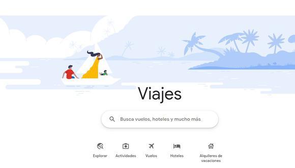 Google, uno de los buscadores más utilizados a nivel mundial, lanzó nueva plataforma dedicada a ofrecer un experiencia especializada durante los viajes. (Foto: captura pantalla)