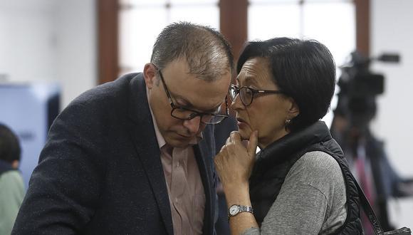Pier Figari y Ana Herz de Vega son dos de los once investigados contra quienes el fiscal José Domingo Pérez pidió 36 meses de prisión preventiva. (Foto: USI)