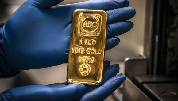 Los futuros del oro en Estados Unidos retrocedían 0.9% a US$ 1,820.60. (Foto: AFP)