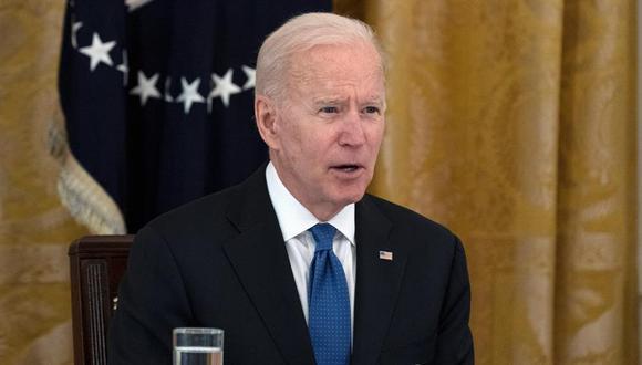 """Durante el encuentro, Biden """"reiteró su apoyo a los 'soñadores', a los titulares del TPS (Estatus de Protección Temporal), a los trabajadores agrícolas y otros trabajadores inmigrantes esenciales"""", detalló la Casa Blanca en un comunicado. (EFE / EPA / Leigh Vogel / POOL)."""