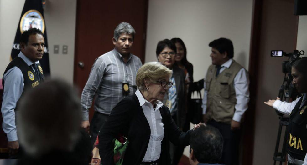 """""""Jamás eludiré a la justicia porque creo en ella"""", remarcó Villarán. (Foto: Hugo Pérez / GEC)"""