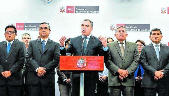 Detalles. Consejo de Ministros pulió ayer su  plan ante el Congreso. (Foto: Andina)