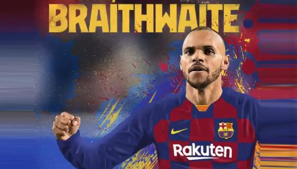 Martin Braithwaite se convirtió en nuevo jugador de Barcelona. (Foto: FC Barcelona)