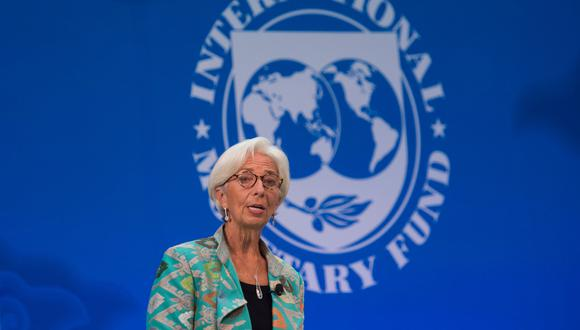 Christine Lagarde, directora del Fondo Monetario Internacional. (Foto: AFP)