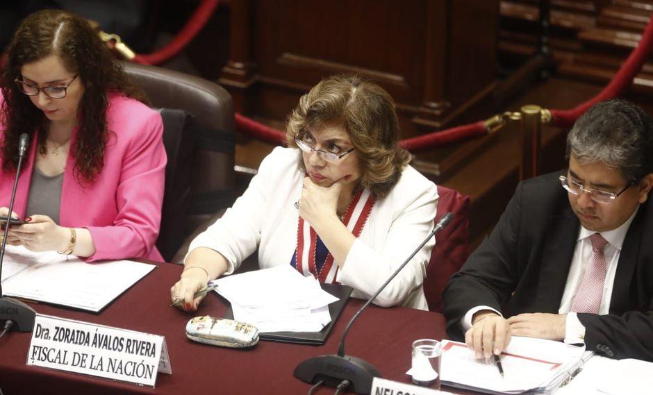 La fiscal de la Nación, Zoraida Ávalos, opinó en la misma línea que los representantes de loa Defensoría del Pueblo, Contraloría y Poder Judicial. (Foto: César Campos - GEC)
