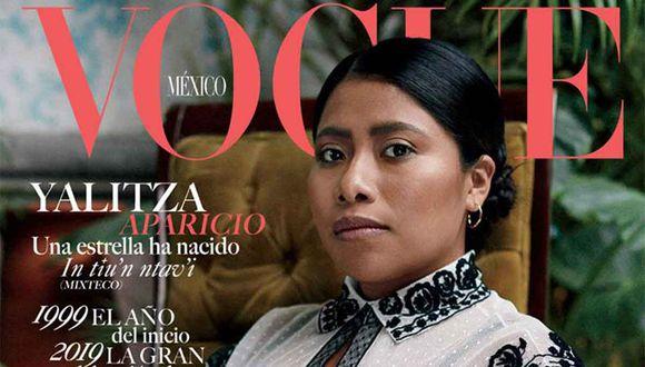 La actriz Yalitza Aparicio se convirtió en protagonista de la portada más difundida de Vogue Latinoamérica.