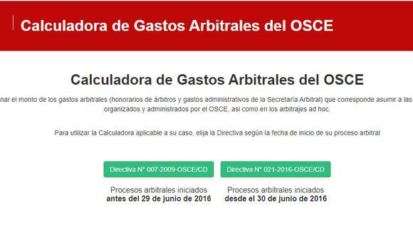 La nueva herramienta virtual de OSCE está disponible en https://www.gob.pe/10640. (Foto: Captura portal OSCE)