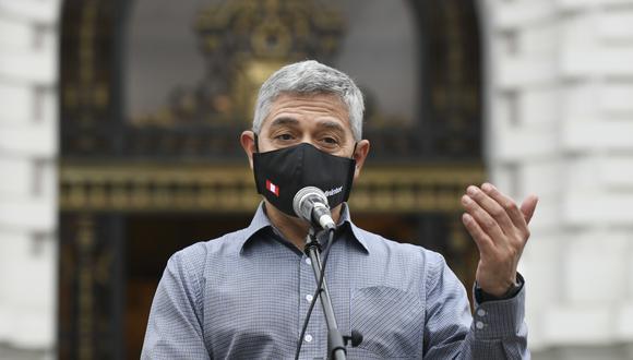 El ministro del Interior, José Elice Navarro, dio positivo al COVID-19. (Foto: Mininter)