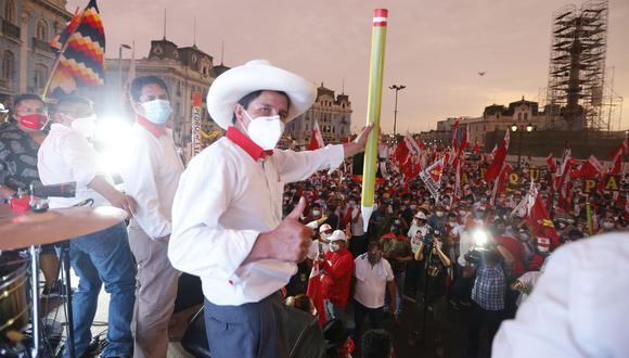 Pedro Castillo lidera la intención de voto, según la última encuesta de Ipsos. (Foto: Violeta Ayasta | GEC)