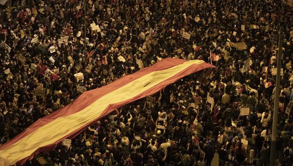 Una imagen del sábado 14 de noviembre, fecha en la que dos jóvenes murieron a manos de la Policía. (Foto: Renzo Salazar).