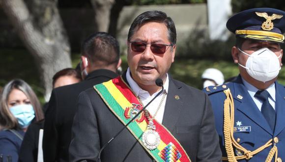 """Cuando Arce tomó la palabra, la polémica se desató cuando se refirió al Gobierno interino de la expresidenta Jeanine Áñez al que suele referirse como """"de facto"""". (Imagen referencial: EFE/Martin Alipaz)."""