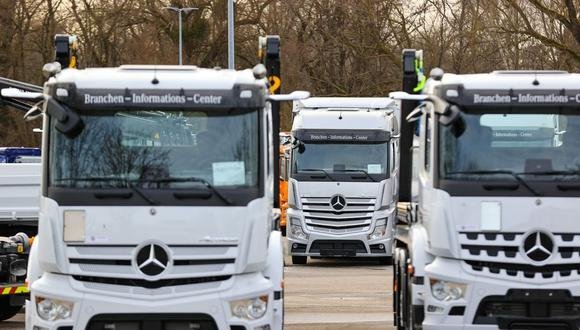 """""""Los camiones eléctricos de celda de combustible impulsados por hidrógeno serán clave para permitir el transporte sin emisiones de CO2 en el futuro"""", dijo el jefe del área de camiones de Daimler, Martin Daum. """"Los camiones eléctricos a batería por sí solos no harán esto posible"""". (Foto: Bloomberg)"""