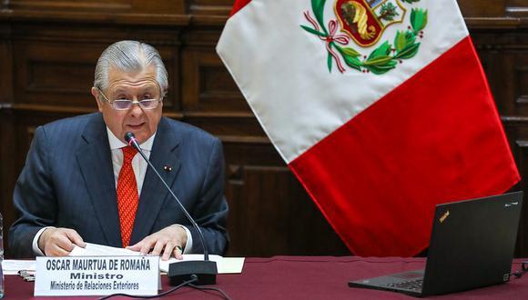 Óscar Maúrtua, canciller del Perú. (Foto: archivo Cancillería)