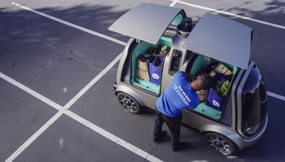 El vehículo autónomo de nombre R1 no cuenta con volante ni asientos para pasajeros. (Foto: AP)