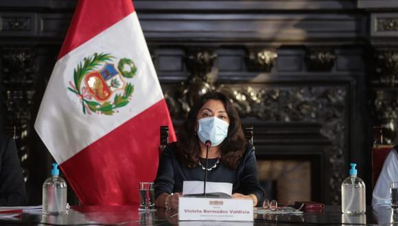 Este miércoles 24 de febrero, la presidenta de la PCM, Violeta Bermúdez anunció las nuevas medidas para restringir el avance del coronavirus en el Perú. FOTO: PCM
