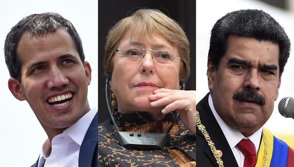 Bachelet se encontrará con un país cuya economía se redujo a la mitad entre 2013 y 2018, y donde la producción petrolera perdió dos millones de barriles diarios en la última década (Foto: AFP)
