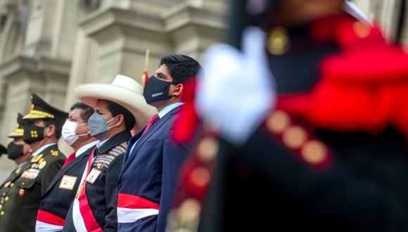 Juan Carrasco participó en la ceremonia de reconocimiento de Pedro Castillo como jefe supremos de las FF.AA: y PNP. (Foto: Mininter)