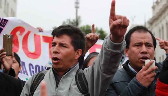 El secretario de Fenate Perú señaló que Pedro Castillo cuenta con licencia de su rol como dirigente, aunque esto no se consignó en el expediente. (Foto: archivo GEC)