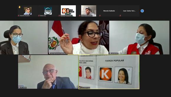 El JEE Lima Centro 2 trasmitió la audiencia por internet. . (JNE)