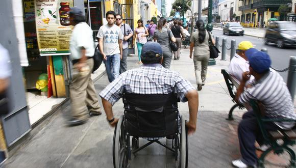 El 77% de las personas con discapacidad, en edad de trabajar, se encuentran inactivas, según el INEI. (Foto: GEC)