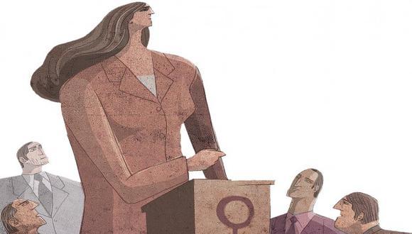 La representación femenina en puestos de alta dirección ha crecido tres puntos porcentuales. (Ilustración: El Comercio).