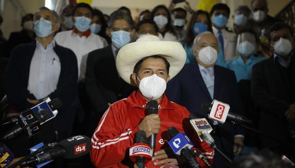 Pedro Castillo, candidato presidencial por Perú Libre, hizo un llamado a la unidad. (Foto: Joel Alonzo/ @photo.gec)