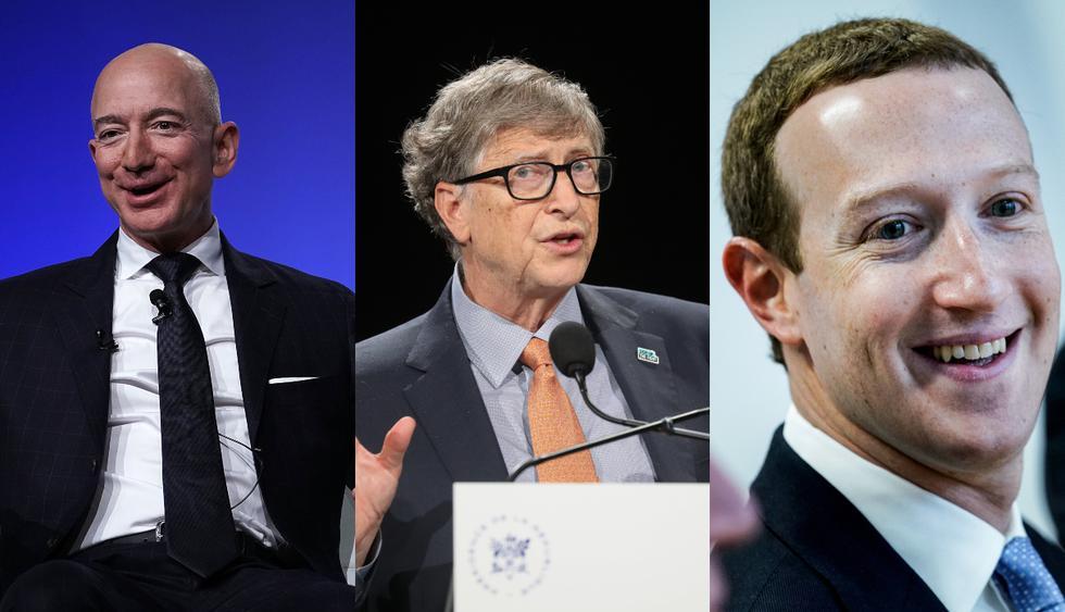 Los libros de negocios clásicos recomendados por Jeff Bezos, Bill Gates y Mark Zuckerberg. (Foto composición: AFP)