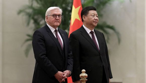 Xi Jinping y el presidente alemán Frank-Walter Steinmeier. (Foto: AP)