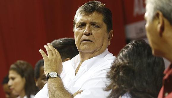 El expresidente Alan García realizó estas transferencias a inmobiliarias desde marzo del 2015. (Foto: GEC)