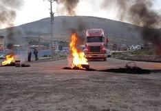 Apurímac: pobladores bloquean corredor minero y exigen presencia de Castillo y Vásquez