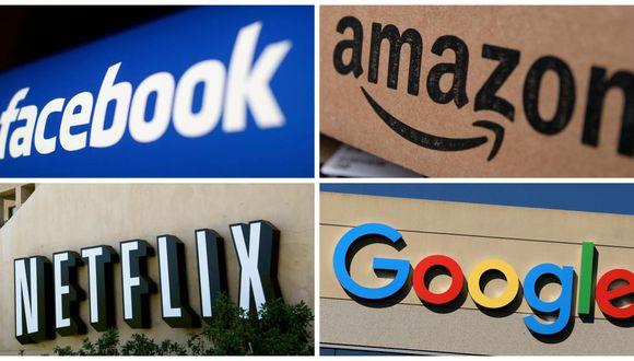 Las FANG son las iniciales de los gigantes tecnológicos Facebook, Amazon, Netflix y Google. (Foto: Reuters)