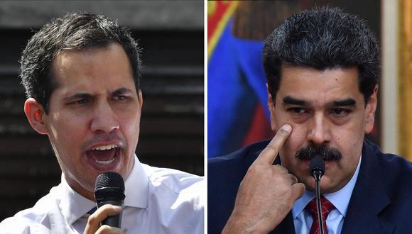 El presidente de Venezuela, Nicolás Maduro, y el líder de la oposición, Juan Guaidó. (Foto: Yuri CORTEZ / AFP).