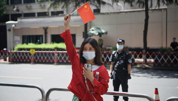 China está explotando el desorden incluso cuando su economía se viene recuperando de la pandemia: el crecimiento interanual fue de 4.9% en el trimestre más reciente. (Photo by Noel Celis / AFP)