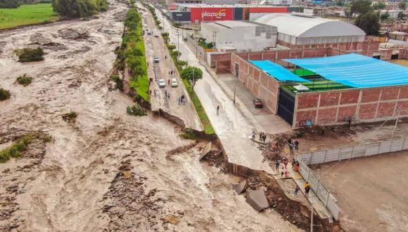 Las intensas lluvias ocasionó la crecida del río Moquegua. (Foto: Bengi Pancca)