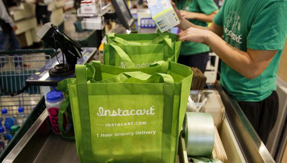 Instacart se ubica como la segunda empresa de entrega y recogida de comestibles más grande de EE.UU., con el 45% del mercado a junio. (Foto: Bloomberg)