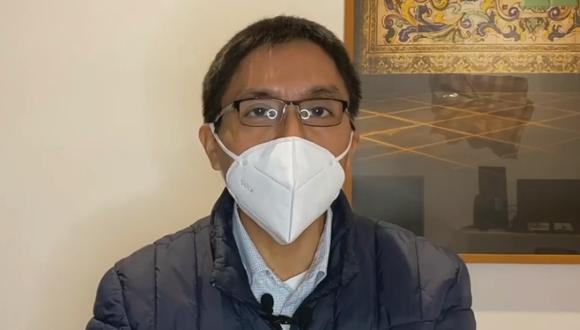Daniel Huarcaya señaló que actualmente no cuenta con militancia en el partido Acción Popular. (Captura RPP)