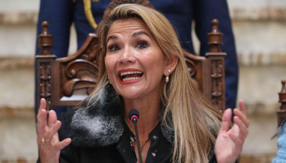 Jeanine Áñez, presidenta interina de Bolivia. (Foto: AFP)