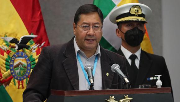 Luis Arce es el actual presidente de Bolivia. (Foto: EFE/Martin Alipaz)