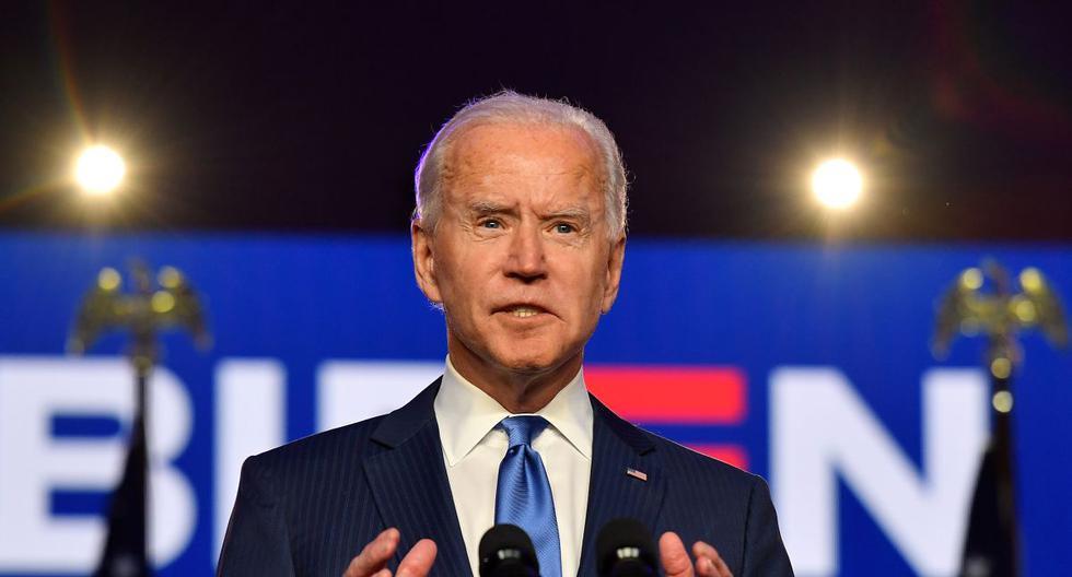 Elecciones USA: Joe Biden pronuncia un discurso a los estadounidenses en medio del conteo de votos. (ANGELA WEISS / AFP).
