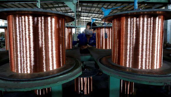 Los precios del cobre eran apoyados por la alteración del suministro de Chile. (Foto: Reuters)