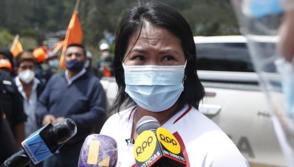La candidata presidencial de Fuerza Popular, Keiko Fujimori, cuestionó la posibilidad de censurar o vacar a Francisco Sagasti. (Foto: GEC).