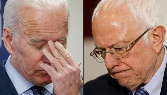 Joe Biden y Bernie Sanders (AFP)
