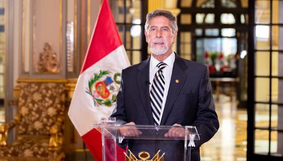 Presidente Franciso Sagasti comentó los resultados de la segunda vuelta difundidos por la ONPE hasta el momento. (Foto: Presidencia del Perú)