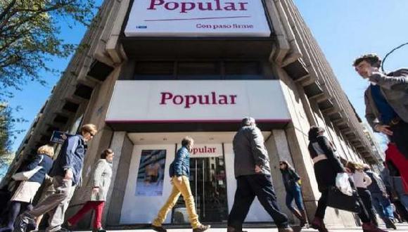 Oficina del Banco Popular en España. (Foto: Expansión)