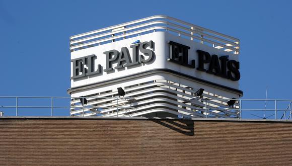 Vista tomada el 9 de octubre de 2012 en Madrid de la sede del principal diario español El País. (DOMINIQUE FAGET/AFP).